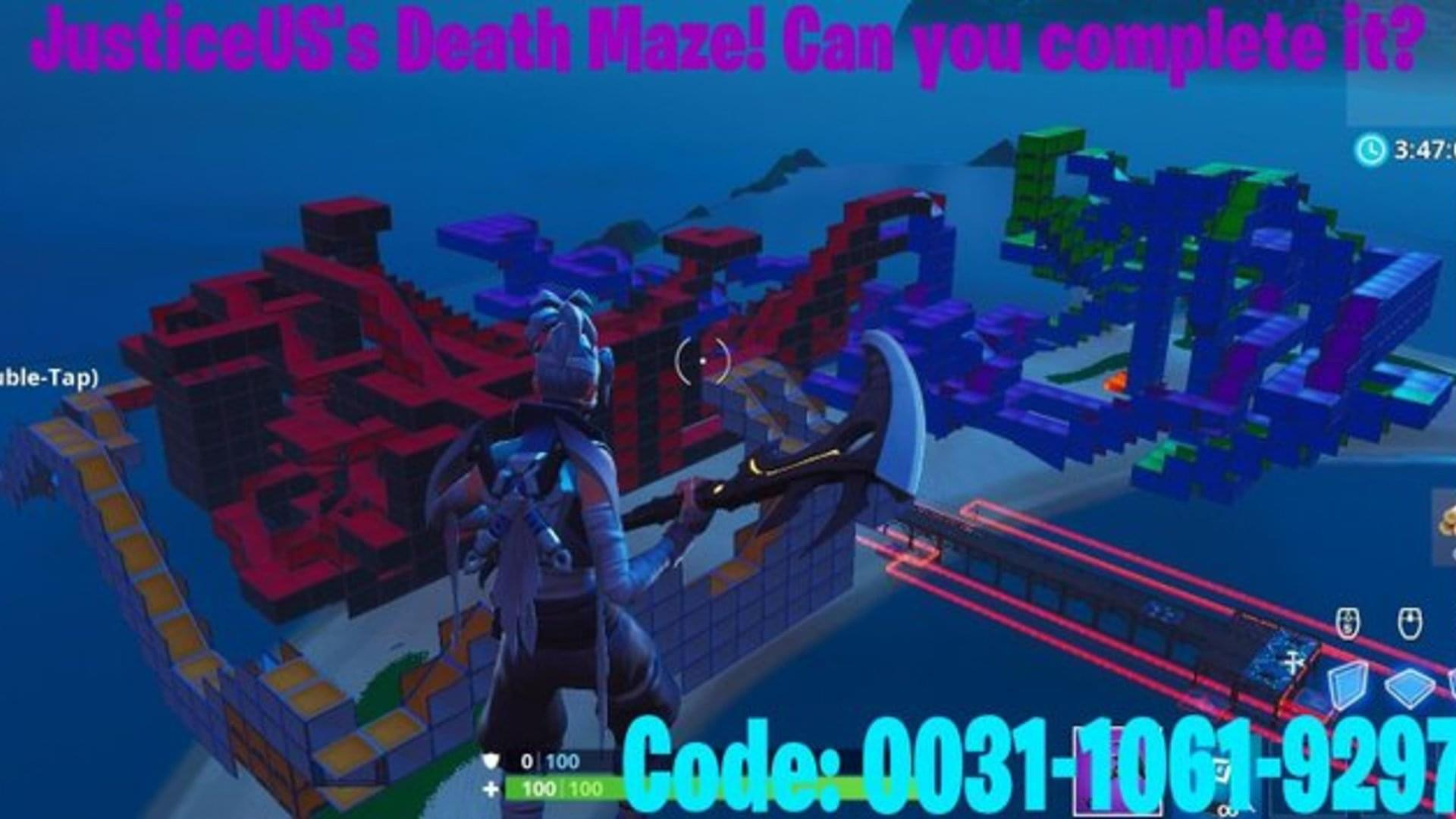 justiceus s death maze fortnite - maze codes fortnite