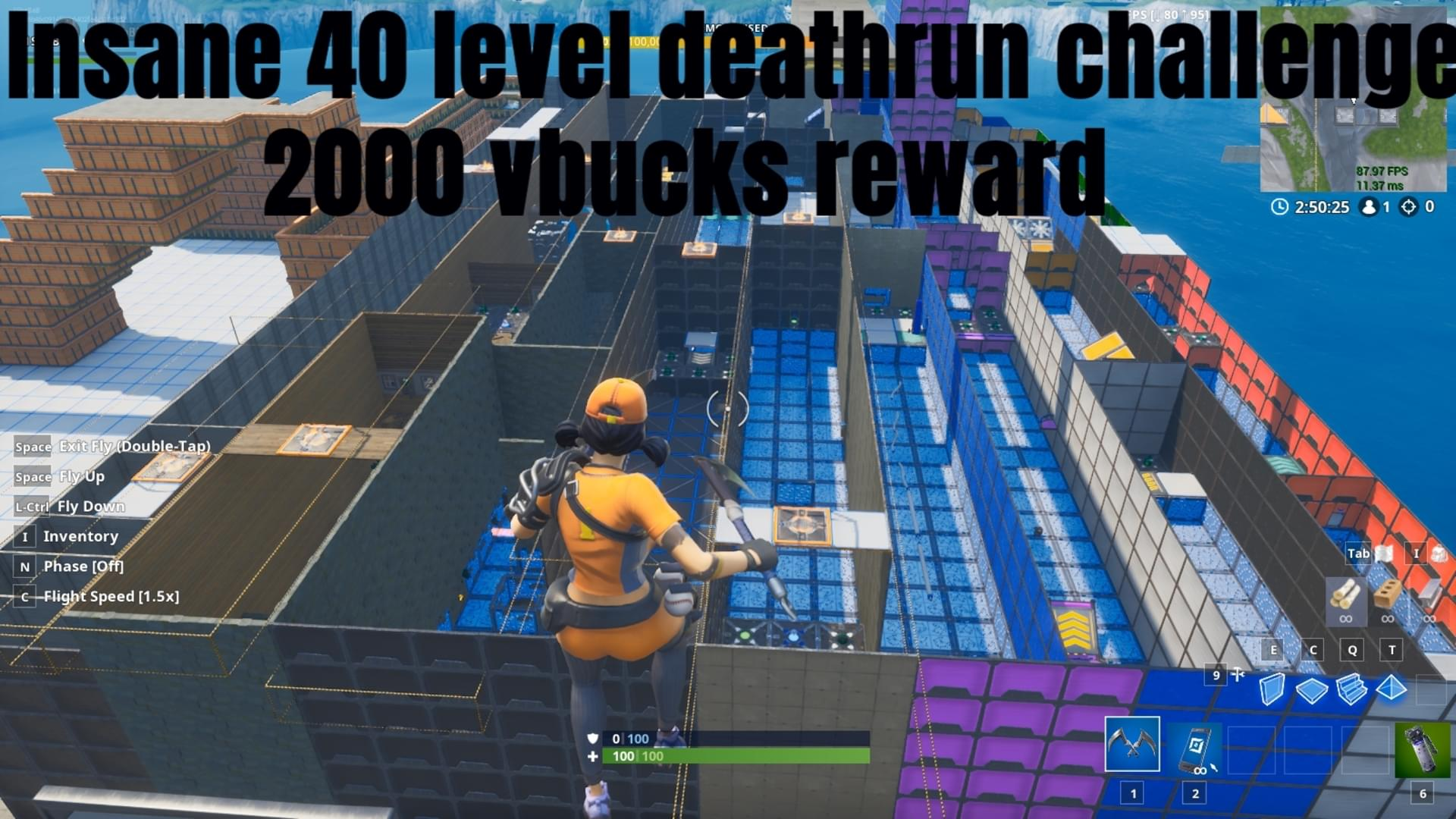Fortnite Creative 1shababs 40 Lvl Easy Challenge Deathrun